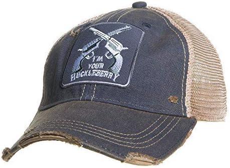 Max 70% OFF Mason Jar Label Llc Mens Huckleberry Max 56% OFF Hat O Di Black S Distressed