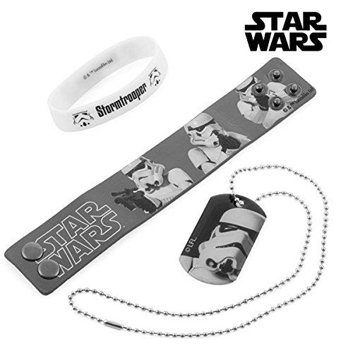 Eurowebb Stormtrooper - Pulseras y collar galácticos (STAR Wars)