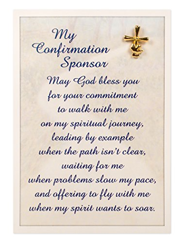 Abbey Gift 3.75 x 5.5 Confirmation Sponsor Pin and Card