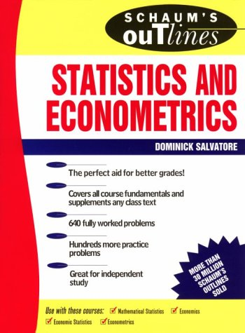Download Schaum's Outline of Theory and Problems of Statistics and Econometrics 0070545057