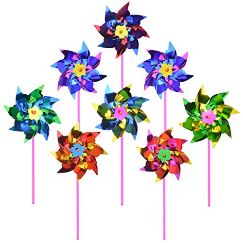 Yard Assorted Colors Wind Spinners Pack of 36 ArtCreativity Rainbow Pinwheels Garden Windmills Whirl Pinwheels for Party Favors and Outdoor Lawn Decorations