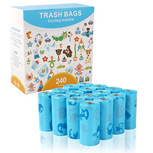 うんちが臭わない袋 240枚 (横13.7cm×纵25cm) 生分解性 生分解性 犬トイレ袋 ペット 犬 猫 驚異の防臭袋 うんち処理袋 16ロール