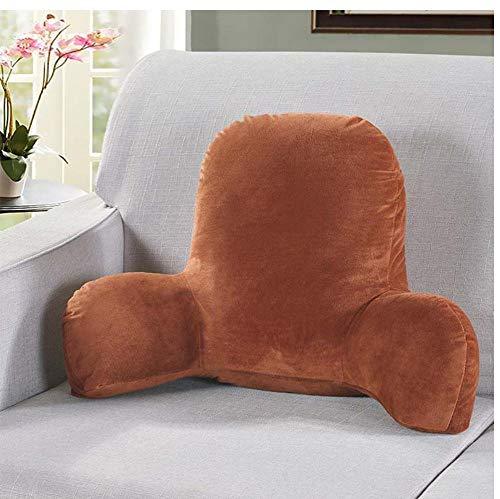 XTSZM Samt warmes Sitzkissen mit Armlehnen Couch Sessel Rückenlehne Kissen für Schwangere Frauen Bürostuhl Rücken Kissen-Kaffee