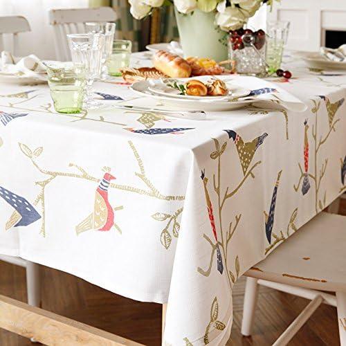 tienda hace compras y ventas azulLSS Jo's rama caliente Mantel Simple ramas pájaros pájaros pájaros Rectángulo rojoondeado Café Comedor poliéster cubierta falsa impresión de lino Tableclothas mostrar debajo de 130180cm.  selección larga