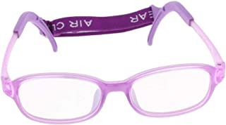 Prettyia Kids Eyeglasses Frame,Silicone Safe Flexible Glasses Frame with Strap,Ultra-light and Unbreakable