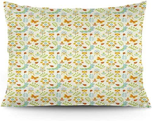 Keyboard cover Funda de cojín con diseño de flores y mariquitas de primavera de 40 x 60 cm