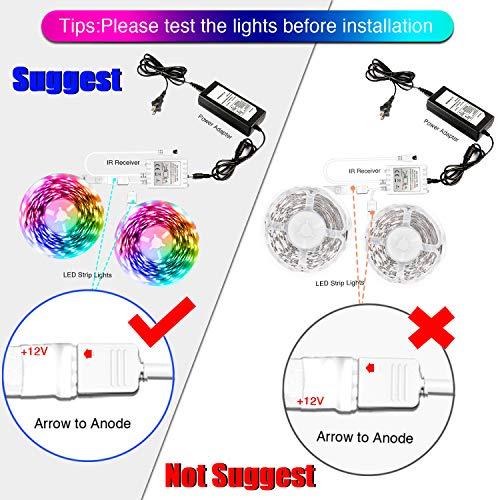Daybetter Led Lights Color Changing Led Strip Lights with Remote Controller-60ft 2