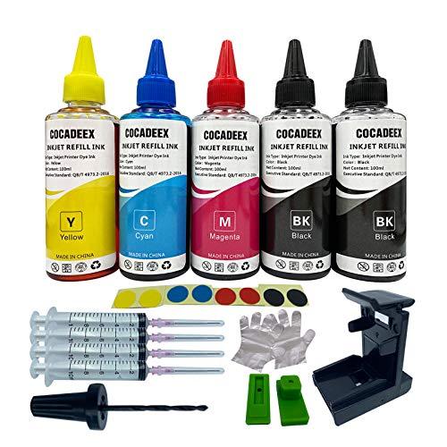 COCADEEX Kit de recambio de tinta de 500 ml compatible con cartuchos de tinta Canon PG-540 CL-541 PG-540XL CL-541XL 540 541 540XL 541XL PG-40 CL-41