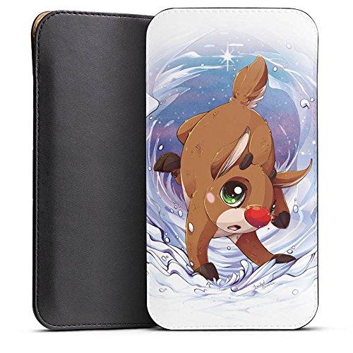 Cover kompatibel mit Wiko Highway Pure Hülle Tasche Sleeve Socke Schutzhülle Rudi Reindeer Rentier