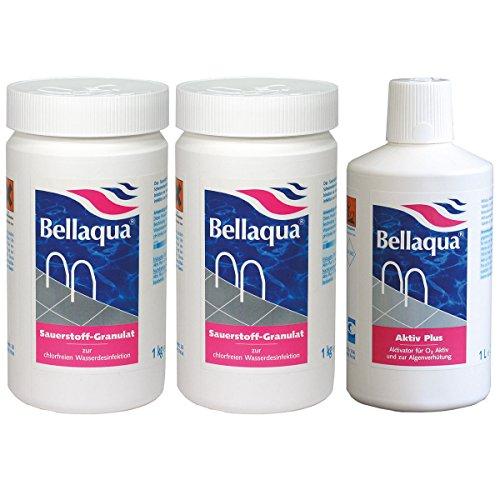 Bellaqua MEGA-Spar-Set - 2X Sauerstoff-Granulat + 1x Aktivator chlorfreie Wasserpflege für Pools und Schwimmbecken von BAYROL