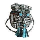 NBRTT Ethnische Art-Tasche, stilvolle Baumwollgewebe-Handtasche für tägliche Crossbody-Umhängetaschen-Frauen-touristische Gewebe-Tasche der Dame Weinlese-kleine Zugschnur-beiläufige Reise