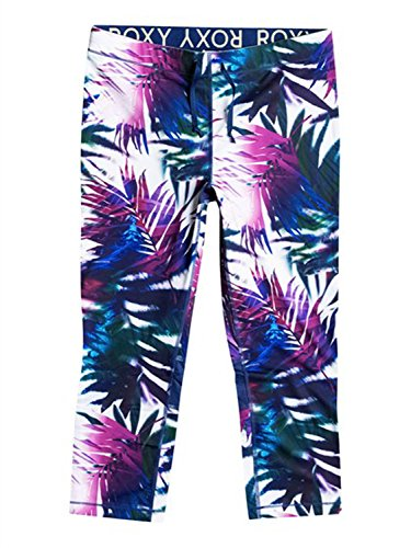 Roxy Women's Relay Capri Pants, Sea Salt Jungle Times, Large