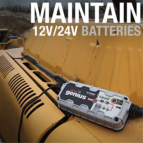NOCO Genius G15000 12V//24V 15 Amp Battery Charger Maintainer Jump Starter
