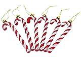 Christmas Concepts® Paquet De 6-13cm De Canne en Bonbon Glitter Décorations d'arbre De Noël (Rouge & Blanc)