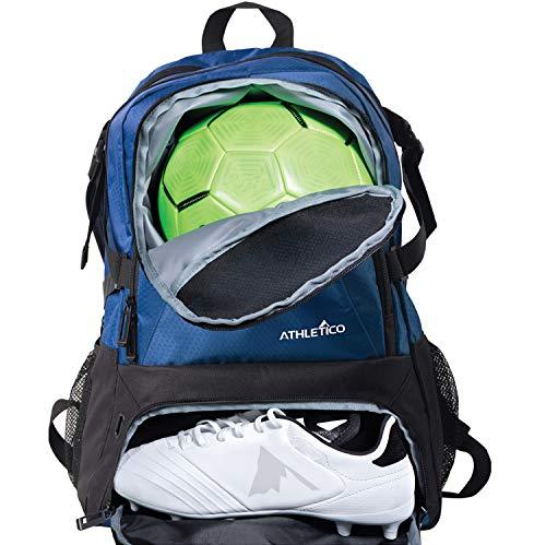 Atletico Nacional Fußballtasche - Rucksack für Fußball, Basketball & Volleyball Inklusive Separate Cleat und Ball Holder - für Jugendliche, Kinder, Mädchen, Jungen, Männer & Frauen (Blau)