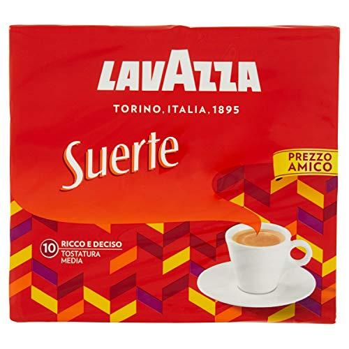Lavazza Caffè Macinato Suerte, Pacco da 2 x 250g