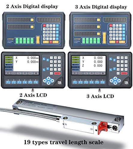 BIKEULTIMATE TTL linéaire de précision en Verre échelle DRO codeur et codeur linéaire 2/3 Axe pour Affichage numérique fraiseuse tournant électronique meuleuse,500mm(20'')