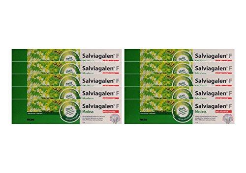 10x Salviagalen F Madaus Zahncreme 75ml PZN 11548356 Zahnpasta