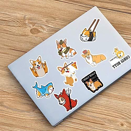 Welsh Corgi Pembroke Lanseede 50 Pezzi Adesivi Animali Corgi Stickers Corgi per Laptop Computer Camera da Letto Guardaroba Auto Skateboard Moto Bici Cellulare Bagagli Chitarra Adesivi Fai da Te