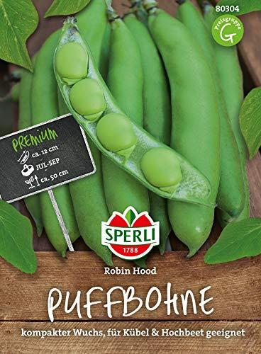 80304 Sperli Premium Puffbohnen Samen Robin Hood | Kompakt, Balkon, Hochbeet geeignet | Dicke Bohnen Saatgut