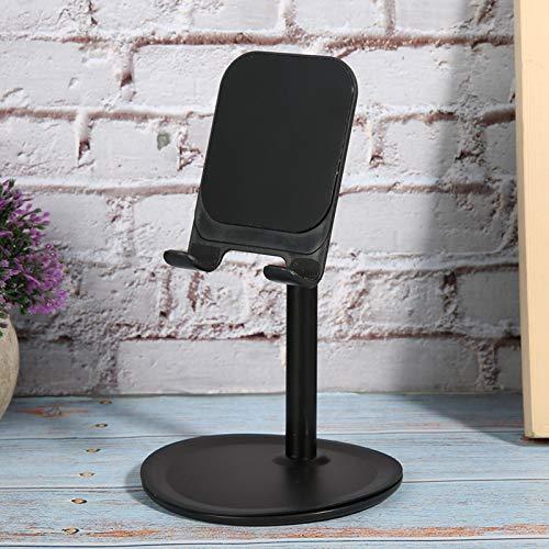 Soporte de escritorio de alta calidad, almacenamiento/soporte con soporte de teléfono de escritorio ABS 100x155mm para teléfono móvil Tablet (Negro)