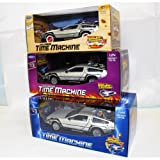 OPO 10 - Welly - Lote de 3 Coches Delorean de Las películas Back TO The Future - Escala 1:24 (Ref:...