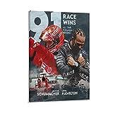 DAMAIX Michael-Schumacher Lewis-Hamilton Poster Legend of