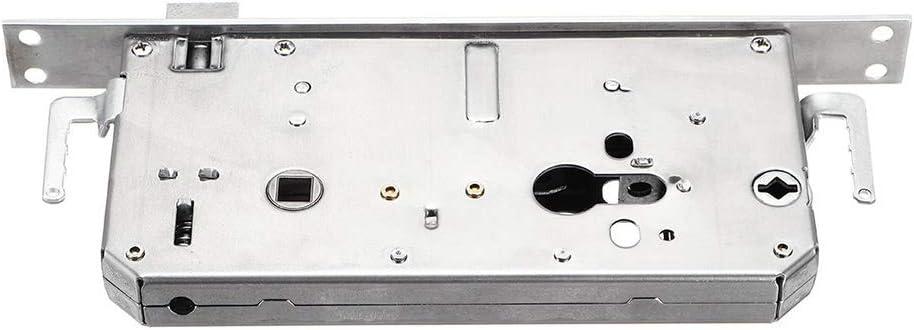 Lyntop Smart Door Lock Smart Optical//Semiconductor Door Lock Fingerprint//Card//Password//Key//APP Control Access Doorlock Color : Black, Size : One Size