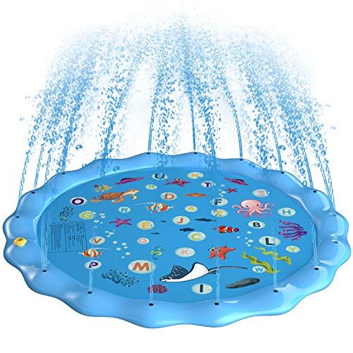 Gifort Splash Pad, Aspersor de Juego para Actividades al Air