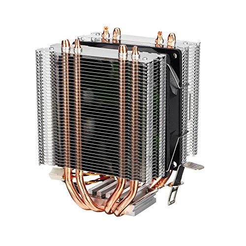 Accesorios portátiles Para la CPU Cooler Dual Tower para Intel LGA 775/1150/1151/1155/1151/1155/1156/1366 para el refrigerador de ventilador de refrigeración silencioso de AMD 4 Sentfipe Radiador para