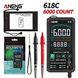 AKDSteel 1 Set of ABS Boxed ANENG 618C Digital multimeter Smart Touch DC Analog Bar True Effective Value Automatic Tester Professional Transistor capacitance NCV Tester 618C