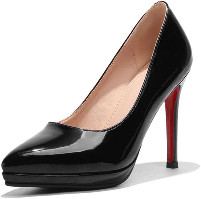 XUERUI Ms High Heels Stilettos Sexy Beautiful Fit 10cm Heel (color   Black, Size   EU36 UK3.5 CN35)