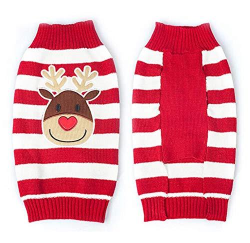 Smoro Rojo Lindo Mascota Cachorro Gato Perro cálido Jersey suéter Prendas de...