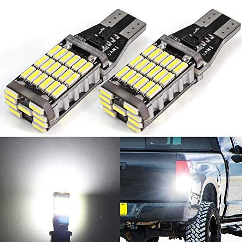 T10 T15 LED Canbus W5W W16W luci led auto interno lampadine posizione luce retromarcia bianco 2 pezzi