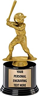 Crown Awards Baseball Trophies with Custom Engraving, 7.25