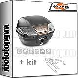 kappa maleta k400nt 40 lt + portaequipaje monolock compatible con triumph bonneville t120 2020 20