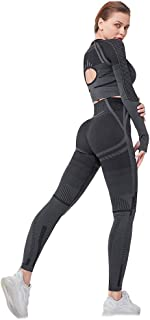 Yoga Wear Long Sleeves 2-pieces Sport Suits Women's Sweatsuits Yoga Jogging Tracksuits