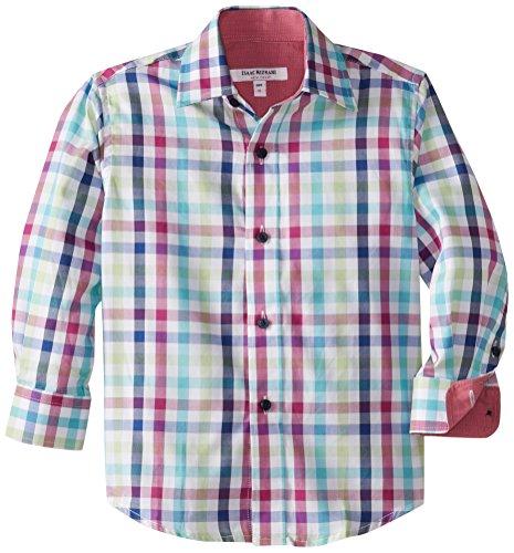 Isaac Mizrahi Little Boys''s Multi Check Shirt, Multi, 7
