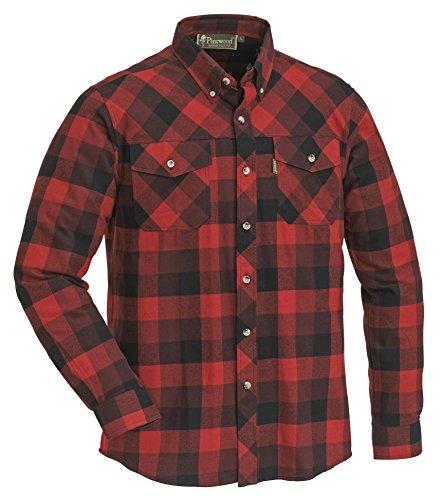 Pinewood Lumbo, Camicia Uomo, Rosso/Nero, XL