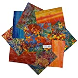 Textile Creations 0648651 Indonesian Batik 10'' Square Pack