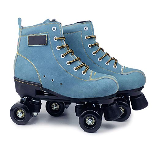 Pinkskattings@ Roller Rollschuhe Damen Männer Mit 4 Rädern Zweireihige Schlittschuhe Komfortable Roller-Skates Für Mädchen Und Jungen,42