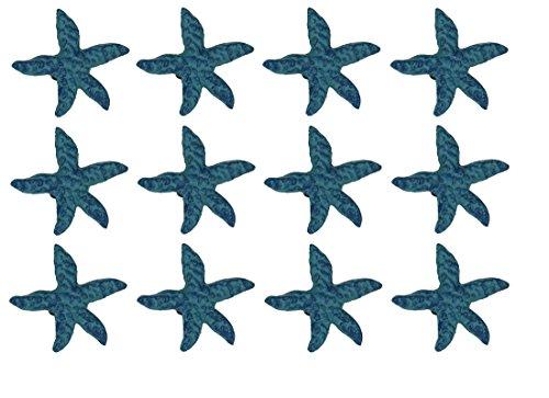 Chesapeake Bay Blue Cast Iron Starfish Drawer Pull Set of 12