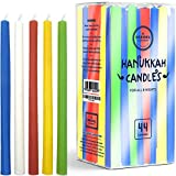 Menorah Candles Chanukah Candles 44 Tall Colorful Hanukkah Candles for All 8 Nights of Chanukah (Single - Tall Hanukkah Candles)