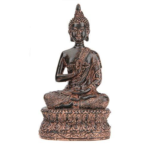 Leekung Buddha Statue for Home Decoration,Antique Meditative Buddah Statues,Meditation Mini Buddha Decor Maroon 6.5'