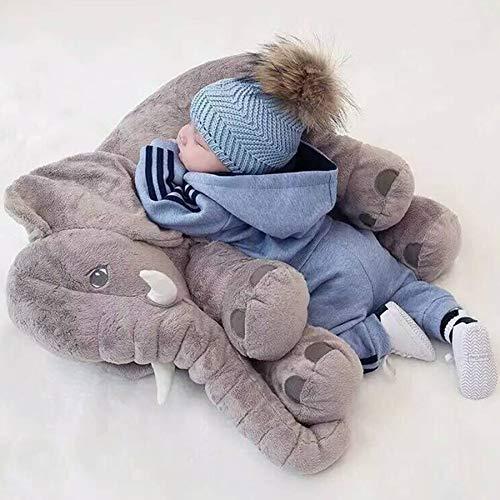 Bebé de felpa suave 60 CM elefante almohada para dormir muñeca tranquila juguetes cama para dormir...