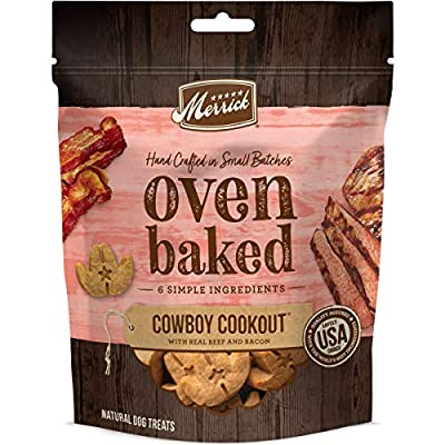 Merrick Oven Baked Dog Treats - Cowboy Cookout with Real Beef and Bacon - 11 oz Bag