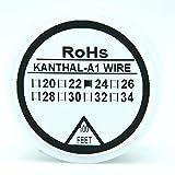 Kanthal - Bobina de alambre resistente tipo A1 calibre 22-32 AWG de 30 metros.