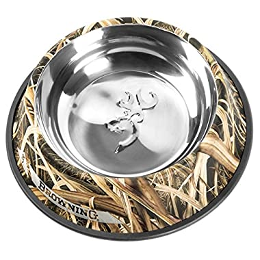 Browning Stainless Steel Pet Dish, X-Large, Shadow Grass Blades