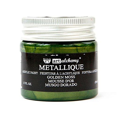Prima Marketing Metallique Golden Moss Finnabair Art Alchemy Acrylic Paint 1.7 Fl. Oz