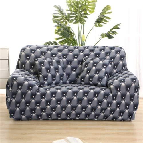 uyeoco Fundas de sofá 1 2 3 4 Plazas Elasticas Protector de Muebles Ajustables Impresión Protector de sofá (Color : A, Size : 2 posti (145-185cm))